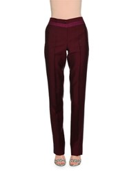 Bottega Veneta Flat Front Slim Leg Pants Pacific Peony Bar