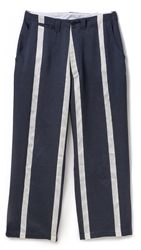 E. Tautz Deck Chair Stripe Field Trousers Navy White