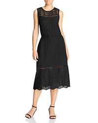 Cupcakes And Cashmere Drew Lace Eyelet Sleeveless Dress Black