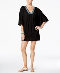 Dotti Beaded Tunic Cover Up Women's Swimsuit Black