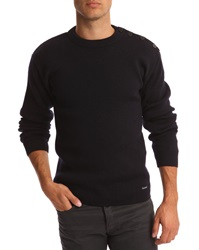 Armor Lux Fouesnant Navy Blue Wool Sweater