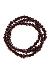Jean Claude Buddha Bead Wrap Bracelet Brown