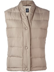Eleventy Sleeveless Padded Gilet Nude And Neutrals