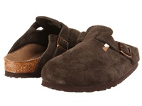Birkenstock Boston Soft Footbed Unisex Mocha Suede Clog Shoes Brown