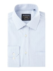 Howick Men's Tailored Prospect Stripe Shirt Blue