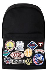 Topman Men's Canvas Backpack With Patches