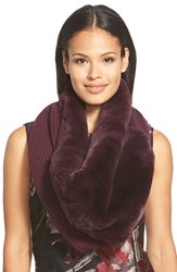 Women's Lafayette 148 New York Genuine Rabbit Fur Trim Tube Scarf
