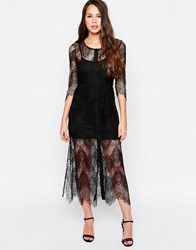 Goldie Karley Lace Dress With Slip Black