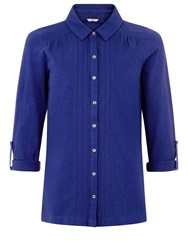 Dash Roll Up Sleeve Jersey Top Blue