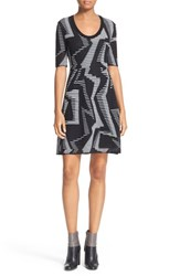 M Missoni Women's Geo Knit Fit And Flare Dress