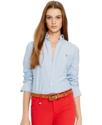 Polo Ralph Lauren Long Sleeve Oxford Shirt Blue