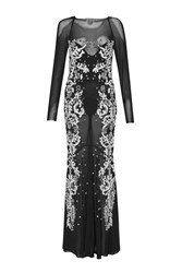 French Connection Aspen Sequin Maxi Dress Black