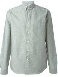 Ami Alexandre Mattiussi Button Down Collar Shirt Green