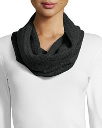 Todd And Duncan Cashmere Cable Knit Infinity Scarf Charcoal
