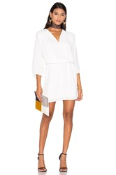 Krisa Peasant Mini Dress White