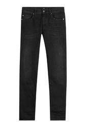 7 For All Mankind Seven Straight Leg Jeans Black