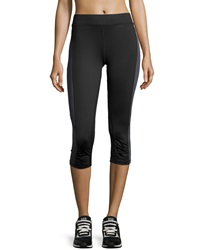 Xcvi Ruched Two Tone Cropped Leggings Black Charcoal