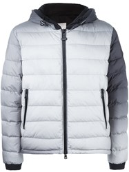 Moncler X Off White Classic Padded Jacket Grey