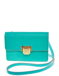 Brian Atwood Marilyn Leather Crossbody Bag Aqua