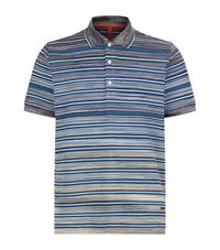 Missoni Striped Polo T Shirt Male Blue