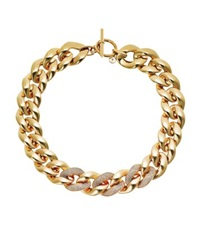 Michael Kors Pave Gold Tone Chunky Chain Necklace