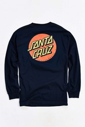 Santa Cruz Classic Dot Long Sleeve Tee Navy