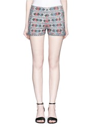 Talitha Diamond Embroidered Shorts Multi Colour