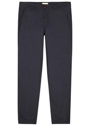 Oliver Spencer Navy Straight Leg Cotton Chinos