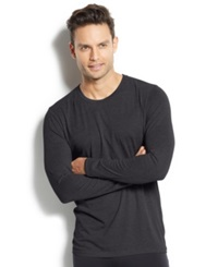 32 Degrees Heat By Weatherproof Thermal Long Sleeve Crew Charcoal