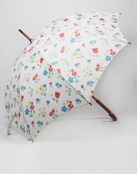 Cath Kidston Kensington Walking Umbrella In Paradise Bunch Print Paradise Bunch Chalk Multi