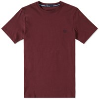 Fred Perry New Classic Crew Neck Tee Burgundy