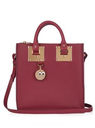 Sophie Hulme Albion Box Leather Cross Body Bag Burgundy Multi