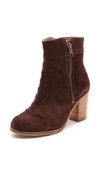 House Of Harlow 1960 Leslie Quilted Suede Booties