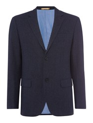 Howick Men's Stiles Herringbone Blazer Navy