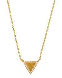 Tai 18K Gold Plated Pave Pendant Necklace