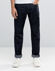 Jack And Jones Regular Fit Jeans In Raw Wash Raw Black