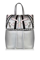 Topshop Bumble Backpack By Skinnydip Silver