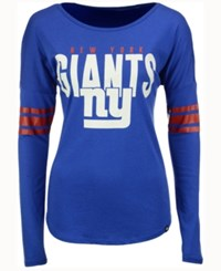 47 Brand '47 Women's New York Giants Courtside Long Sleeve T Shirt Blue