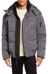 Andrew Marc New York Men's 'Summit' Embossed Down Jacket With Detachable Hood Fog