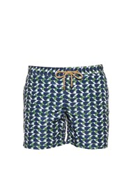 Thorsun Blocks Print Swim Shorts Green Multi
