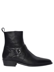 The Kooples Smooth Leather Classic Buckled Boots