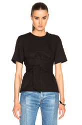 Each X Other Belted Wrap Top In Black
