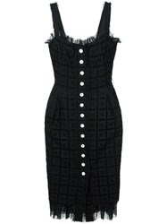 Dolce And Gabbana Vintage Broderie Anglaise Embroidered Dress Black