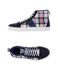 Msgm High Tops And Trainers Dark Blue