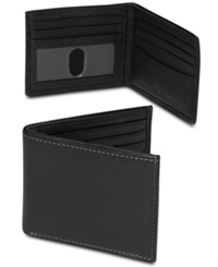 Tasso Elba Milled Slim Billfold Wallet Black