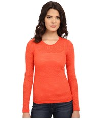Ariat Mojave Baselayer Red Coral Women's Long Sleeve Pullover