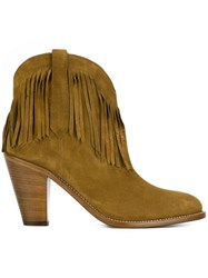 Saint Laurent 'Curtis 80' Ankle Boots Nude And Neutrals
