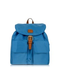Bric's X Travel Nylon And Leather Backpack Cornflower