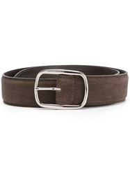 Orciani Suede Buckle Belt Brown