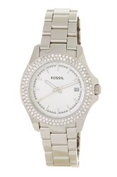 Fossil Women's Retro Traveler Bracelet Watch Metallic